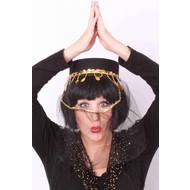 Party-accessoires: Suleika hoed (goud)