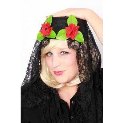 Spaanse hoed met kant