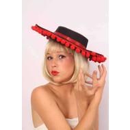 Party-accessoires: Spaanse hoed met rode balletjes