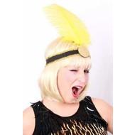 Party-accessoires: Charleston hoofdband met veer