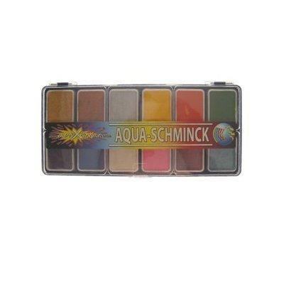 Schmink en grimeerset aquabasis 12 kleuren