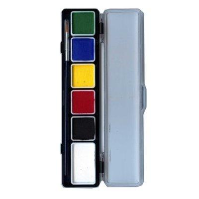 Schmink en grimeerset aquabasis 6 reguliere kleuren