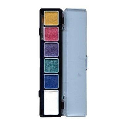 Schmink en grimeerset aquabasis 6 metallic kleuren