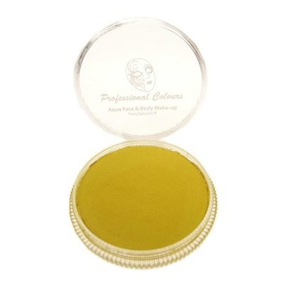 Grimeer en schmink op waterbasis metalic geel