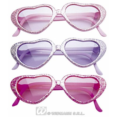 Kinder feestbril Glitterhart
