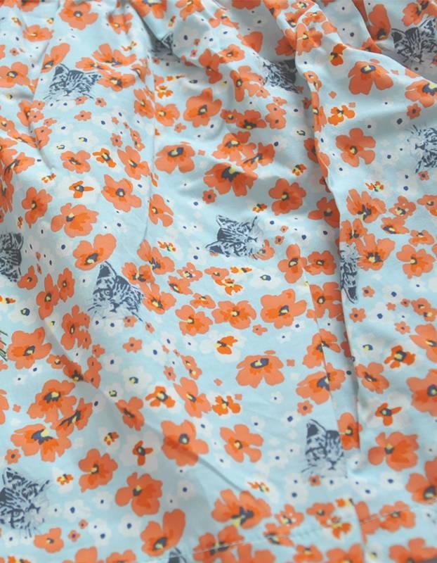 BONNE - Jurkje bloemenprint met cut out hartje
