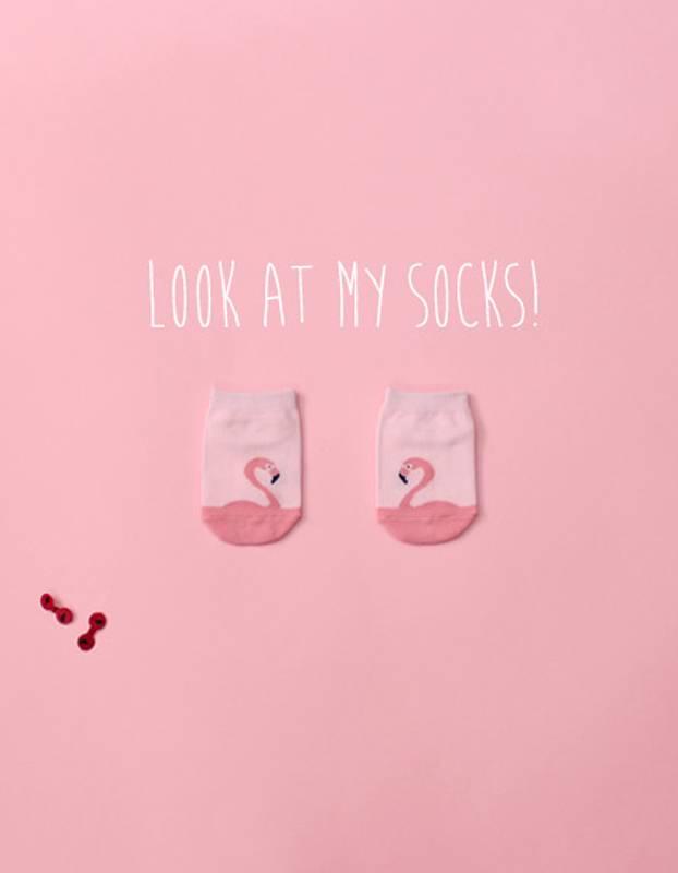 KOKACHARM - Flamingo sokjes met antislip