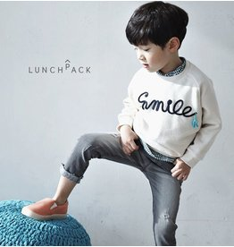 LUNCHPACK - Sweater met tekst SMILE