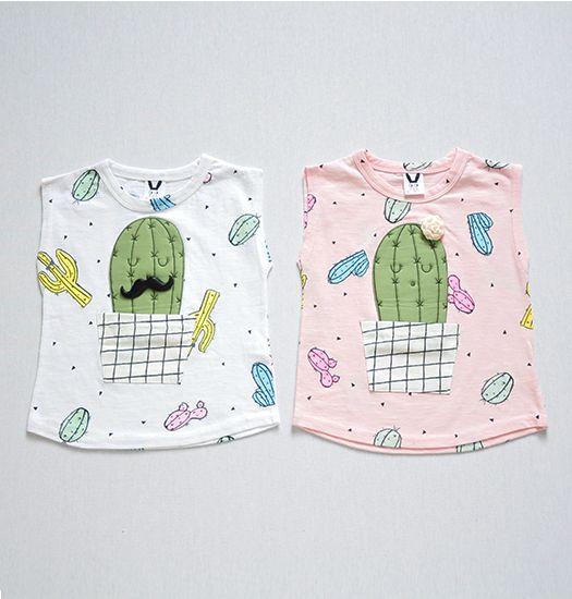 Coco Rabbit - Cactus shirt wit of roze