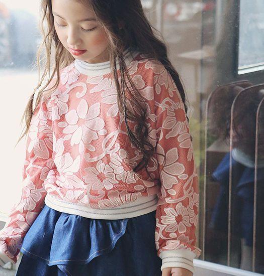 Tuttöbene - Meisjes bloemen sweater