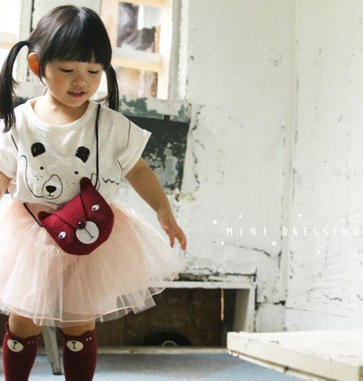 MINI DRESSING - Kindertasje beer