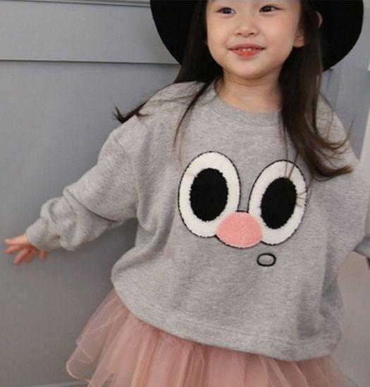 MINI DRESSING - Sweater met gezichtje