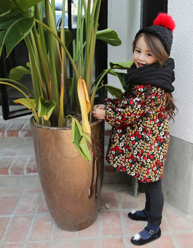 BONNE - Kinderjurkje met bloemenprint