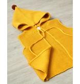 MINI DRESSING - Unisex kinder vest okergeel met puntmuts