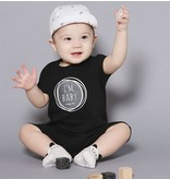 "HAPPY PRINCE - Baby suit zwart ""I'm baby"""