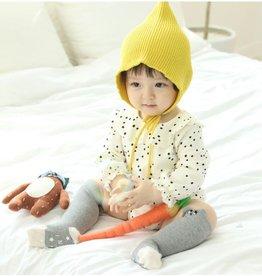 MINI DRESSING- Romper baby beige met polkadot