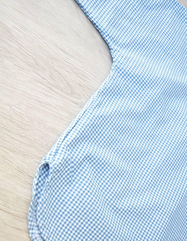 NATURAL G - Geruite overhemd blauw