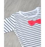 KOKACHARM - Romper met strepen en rood strikje