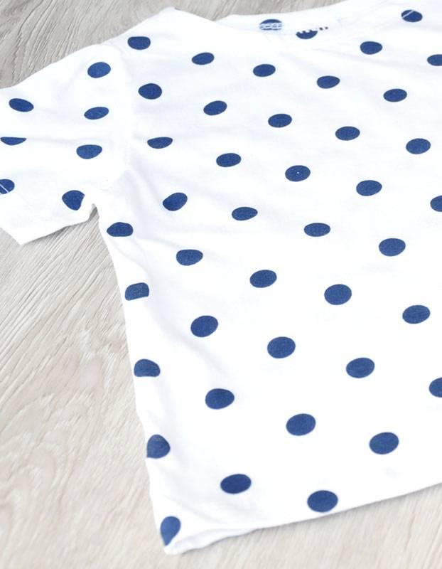 WHITESKETCHBOOK - Unisex T-shirt met polkadot