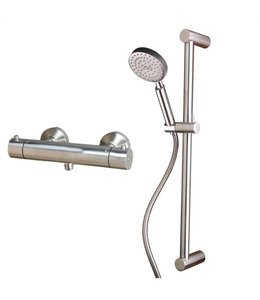 Sento-Stainless RVS Douche Set met Thermostaat SD1012