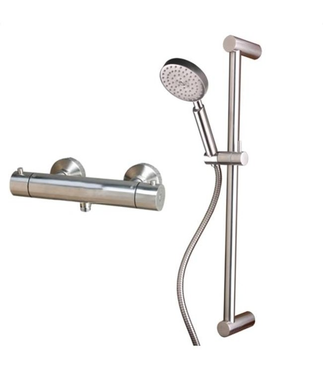 Sento-Stainless RVS Douche set met thermostaat SD101-SD102