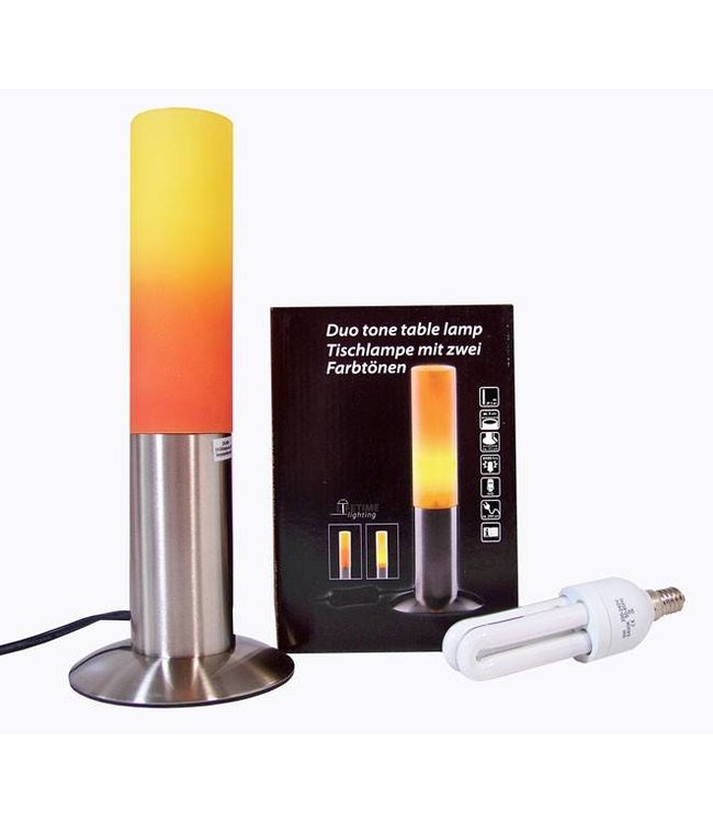 Roestvrijstalen tafellamp Duo Tone