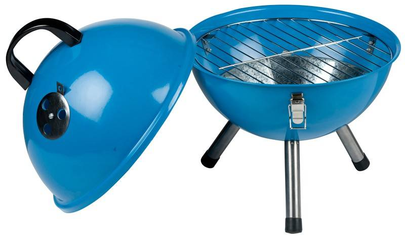Bbq tafel model blauw
