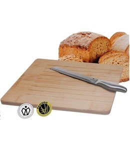 Broodsnijplank en RVS broodmes