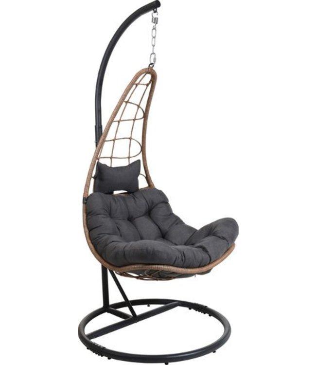 Hangstoel rotan bruin