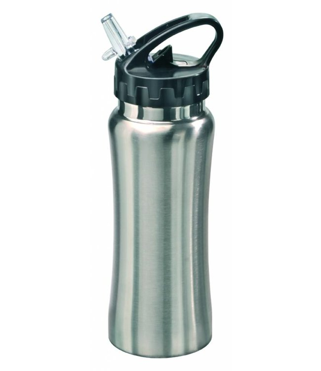 "RVS Bidon zilver ""Sporty"" 0,5 liter"