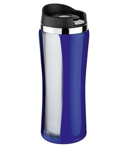 Isosteel RVS Drinkbeker Colorline blauw 0.4 liter