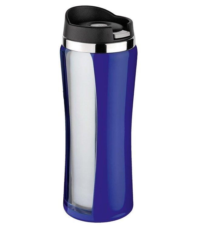 Isosteel RVS Drinkbeker Colorline blauw 0.4 liter