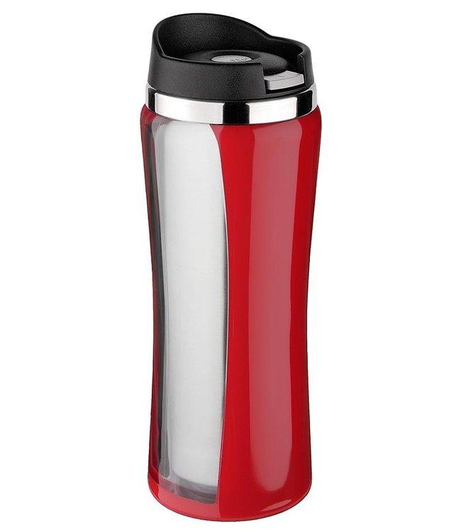 Isosteel RVS Drinkbeker Colorline rood 0.4 liter