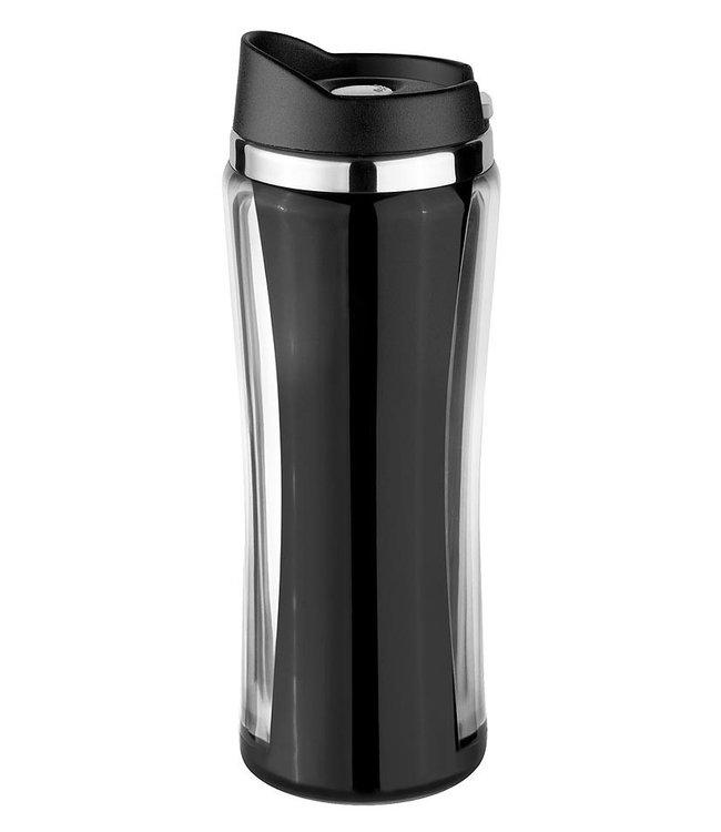 Isosteel RVS Drinkbeker Colorline zwart 0.4 liter