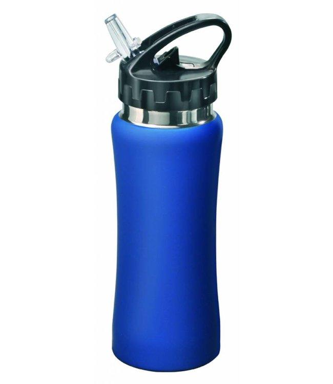 "RVS Bidon blauw ""Sporty"" 0,5 liter"