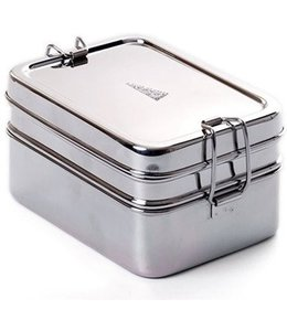 ECO Brotbox RVS Lunchbox Dabba Magic met Snackbox