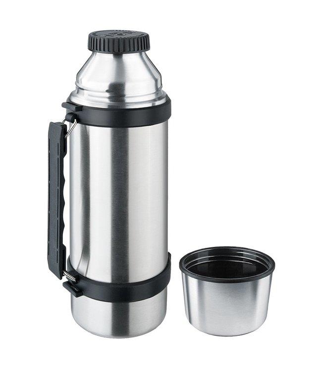 "Isosteel RVS Thermosfles ""Slim"" 1.0 liter met handgreep"
