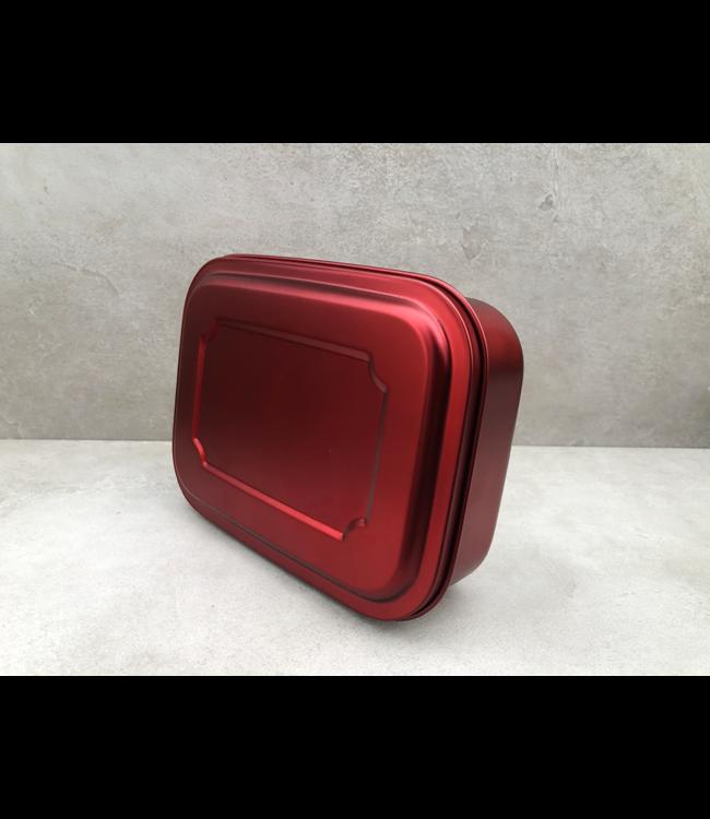 Yeeco RVS Lunchbox rood 1 liter