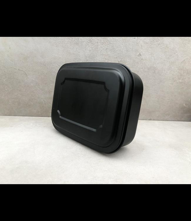 Yeeco RVS Lunchbox zwart 1 liter