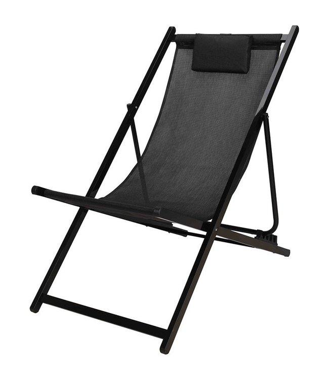 Ligstoel zwart-grijs