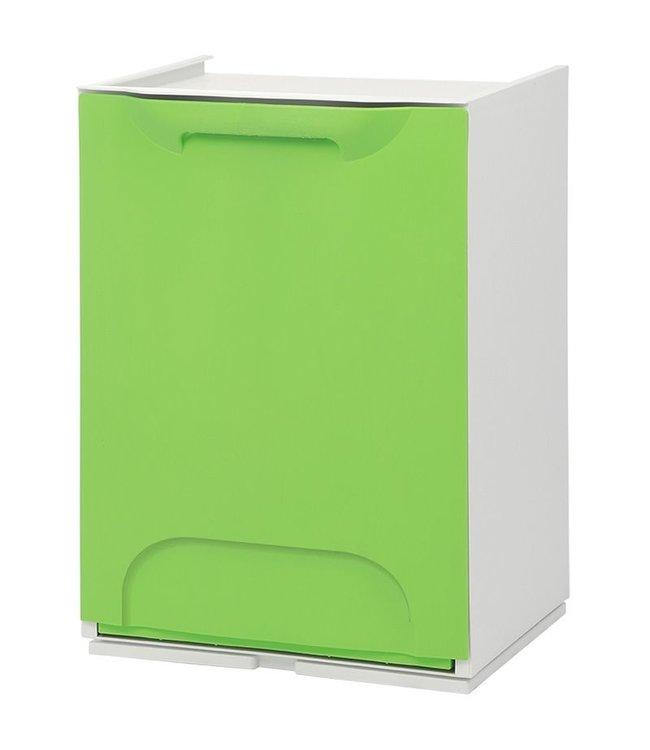 Duett - Afvalbak voor Recycling - Vrijstaand - Stapelbaar - Wandmontage - Groen