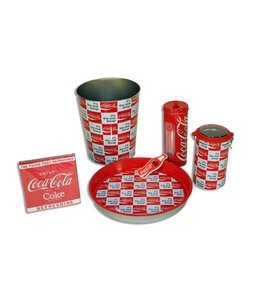 Coca Cola set wit/rood
