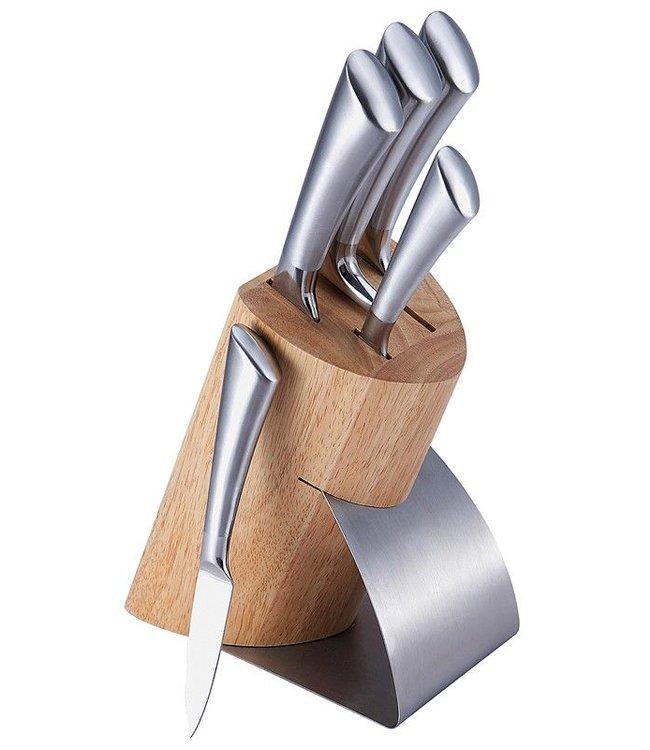 Bergner Messenblok met 5 messen