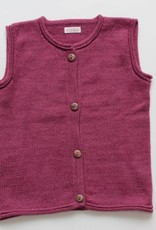Alpaca sweater vest pink