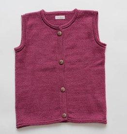 Pink alpaca sweater vest