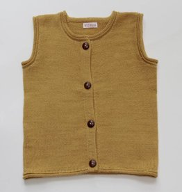 Yellow alpaca sweater vest
