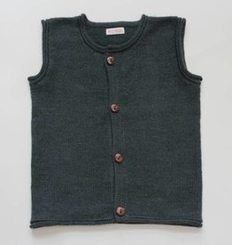 Olive green alpaca sweater vest