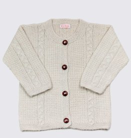 Alpaca cardigan in soft white