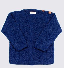 Blue alpaca cable sweater