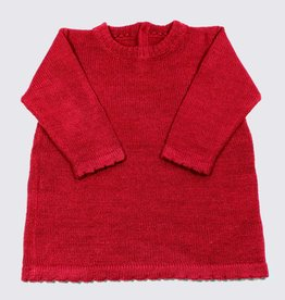 Alpaca dress in red
